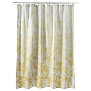 ombre floral shower curtain yellow threshold target