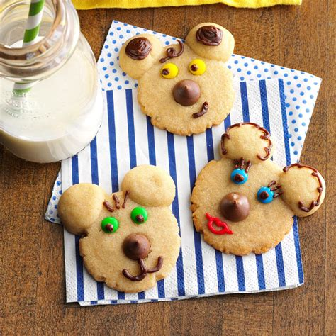 adorable cookie recipes beary cookies recipe taste of home 3316