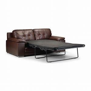 Dexter 2 seater bonded leather sofa bed guest spare for Leather sofa bed