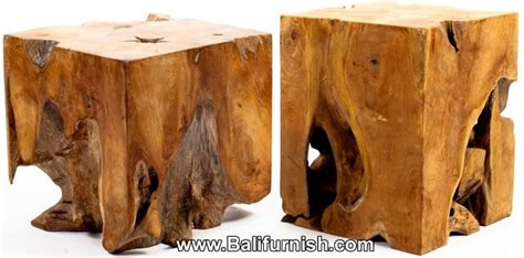teak root wood block teak root wood cube table  lamp