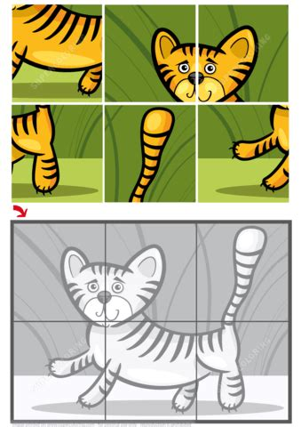 cute  tiger jigsaw puzzle  printable puzzle games