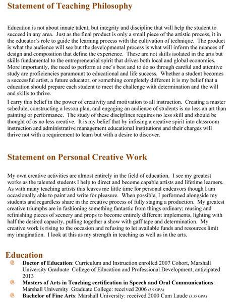 teaching philosophy template resume philosophy statement writingz web fc2