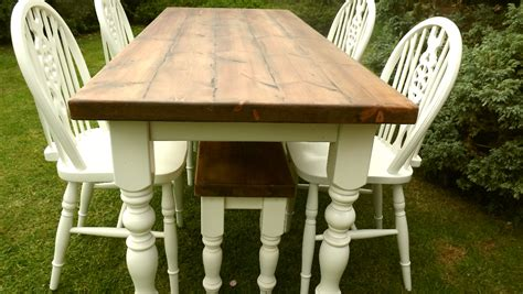 rustic 6 x 2 6 shabby chic farmhouse table 1400mm