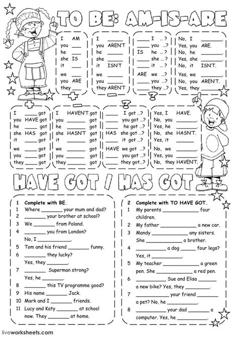 verb   interactive  downloadable worksheet