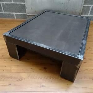 Table Salon Metal : table de salon style industriel ~ Teatrodelosmanantiales.com Idées de Décoration