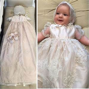New Heirloom Baptism Gown White Ivory Baby Girls ...