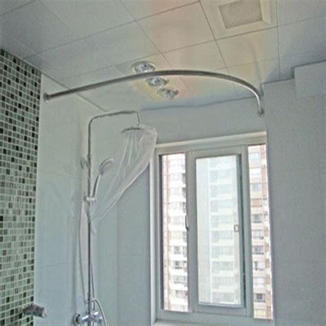 304 stainless steel shower curtain rod curved 100cm 120cm