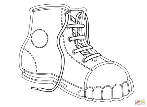 Coloring Shoes by Canvas Shoe Coloring Page Free Printable Coloring Pages
