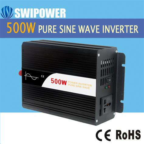 solar inverter 500w 12 24 48v dc to 110 220v ac sine wave led display ebay