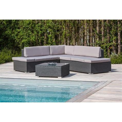 canape angle jardin salon de jardin 1 table basse canapé d 39 angle en