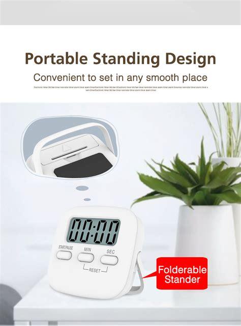 minuterie de cuisine minuterie numérique de cuisine grands chiffres alarme forte support magnétique minuterie avec