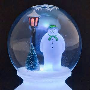 sale on battery operated the snowman globe with multi coloured led lights snowtime now available