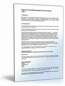 Was Sind Allgemeine Geschäftsbedingungen : agb online shop b2c rechtssicheres muster zum download ~ Markanthonyermac.com Haus und Dekorationen
