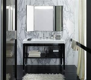 Console Salle De Bain : une salle de bains en black white galerie photos d 39 article 15 22 ~ Teatrodelosmanantiales.com Idées de Décoration