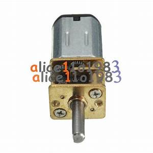 2PCS Micro Speed Reduction Gear Motor with Metal Gearbox ...