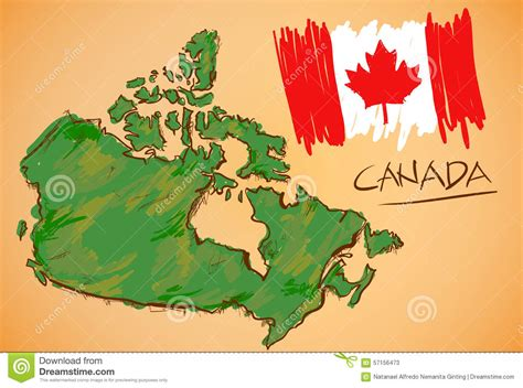 canada map and national flag vector stock vector 57156473