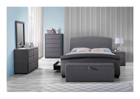 storage bedroom furniture birlea sorrento grey fabric bedroom furniture bedside 13400