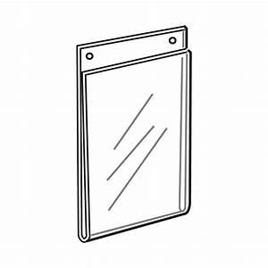 Quick Ship Acrylic Wallmount Vertical Signholders
