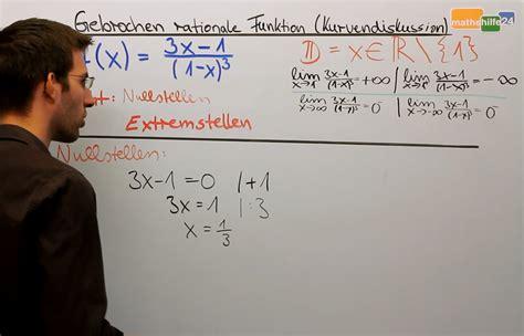 nullstellen gebrochen rationalen funktion mathehilfe