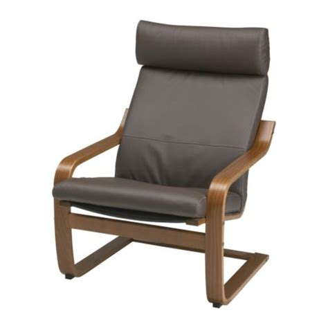 po 196 ng chair glose dark brown medium brown ikea