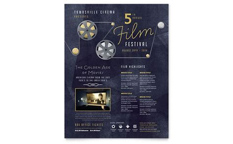 film festival flyer template word publisher