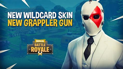 wildcard skin  grappler gun fortnite battle