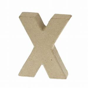 paper mache small letter x 10cm high x 2cm thick With small paper mache letters