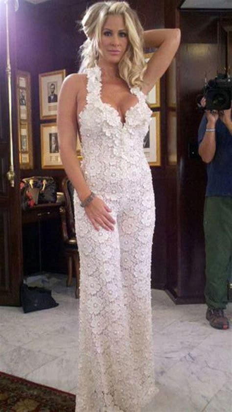 white jumpsuit for wedding lace jumpsuit by pnina tornai live it wedding