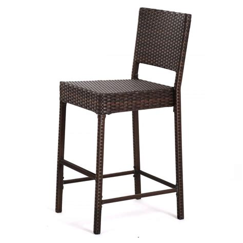 outdoor wicker brown barstool all weather brown patio
