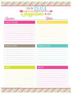 Free Printable Vacation Travel Planner