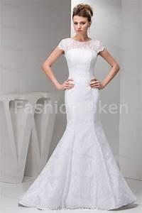 Summer mermaid wedding dress with court traincherry marry for Summer wedding dresses