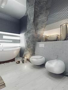 salle de bains de luxe 5 exemples qui couperont votre With salle de bain design avec galets décoratifs de table