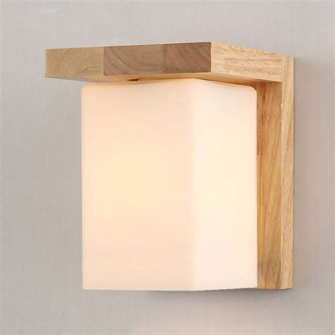contemporary tracy wooden and glass cube wall light buy