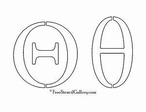 greek letter theta free stencil gallery With greek letter cutouts