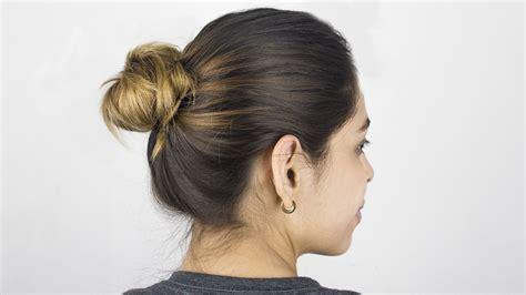 simple bun  hair  steps  pictures