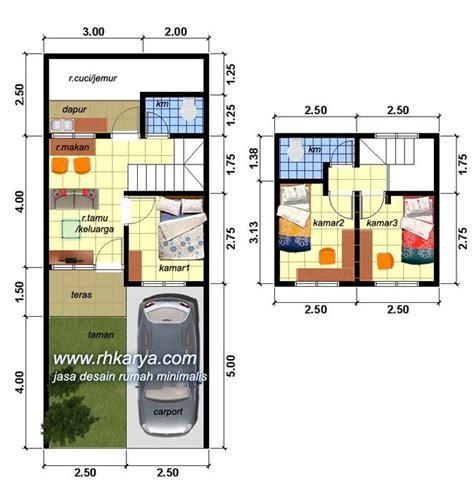 denah rumah minimalis ukuran  perum anggrek