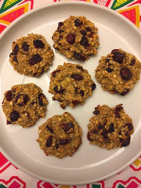 healthy  ingredient banana oatmeal cookies recipe