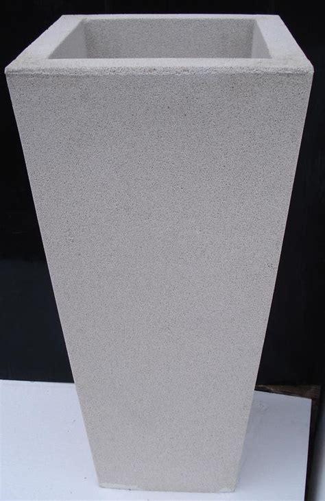 vasi in graniglia vaso fioriere quadrato in cemento torino 40x40 h75 cm