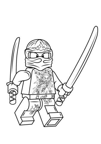 coloriage kai nrg lego ninjago coloriages  imprimer