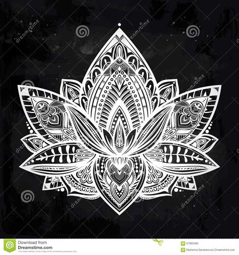 vector ornamental lotus flower stock vector