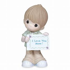 Precious Moments® Boy With I Love You Mom Sign Figurine ...