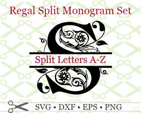regal split monogram svg cricut silhouette files svg dxf