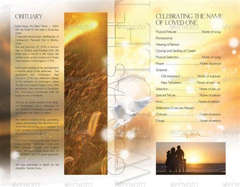 celebration  life funeral program brochure template