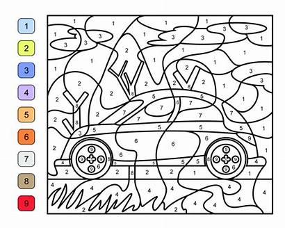Number Coloring Pages Printables Race Printable Printablee