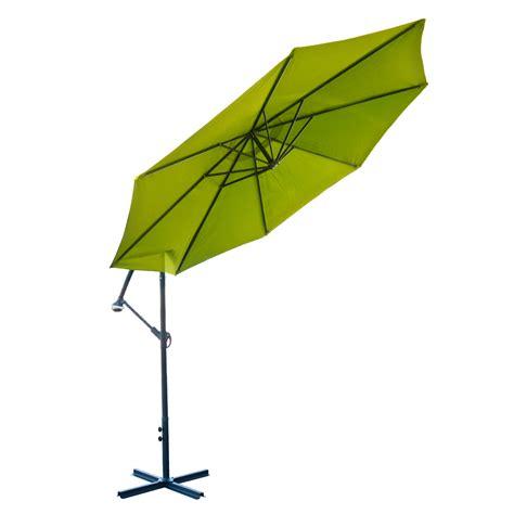 10 offset lime green umbrella patio crank up tilt
