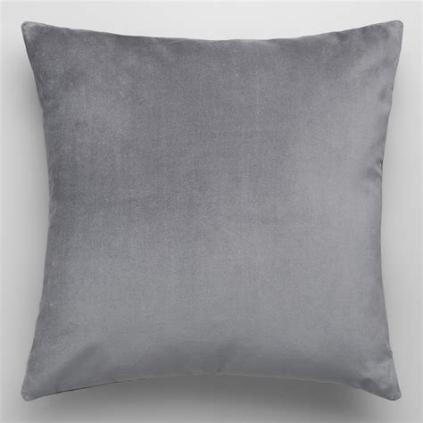 Throw Pillows by Tornado Gray Velvet Throw Pillow World Market
