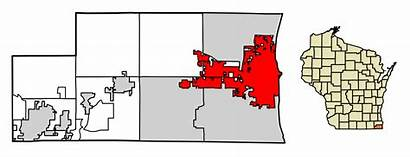 Kenosha County Wisconsin Highlighted Svg Incorporated Unincorporated