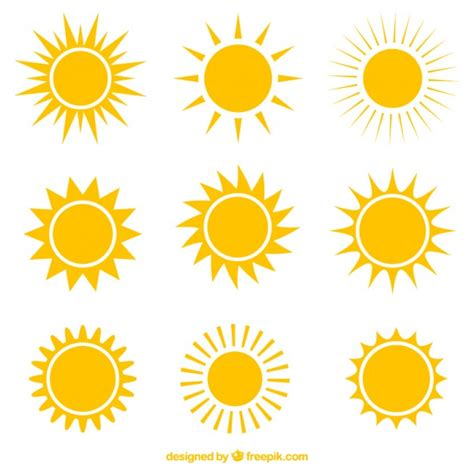 sun vectors and psd files free