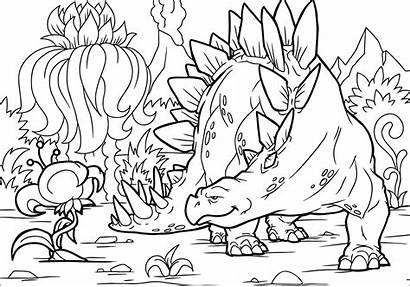 Coloring Stegosaurus Dinosaur Dinosaurier Printable Dinosaurios Dino