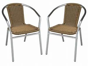 Chaise De Jardin Blanche : lot de 2 chaises jardin alu r sine tress e 3 coloris fizz ~ Dailycaller-alerts.com Idées de Décoration